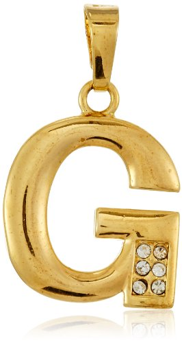 GB Jewellery 18 KT Gold Plated G Alphabet Pendant for Men and Women
