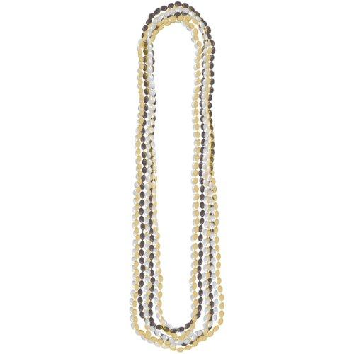 ncklc bd 30 inches silver gold blck 8pk