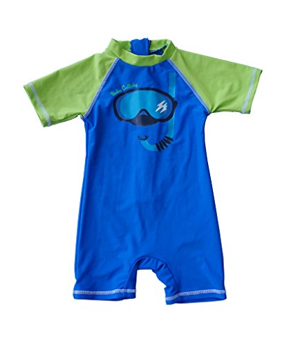 Bonverano(TM) Baby boy's UPF 50+ Sun Protection S/S One Piece Zip Sun Suit(6-9 mos)