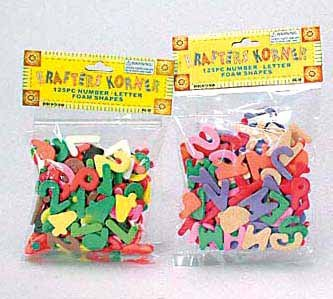 Number/Letters Foam Shapes (24 Pack)
