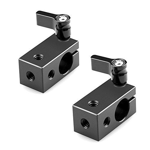 """SMALLRIG® Rod Clamp Pince pour Tige 15mm avec Pas de Vis 1/4"""" Bague de Serrage avec Filetage 1/4"""" ( Lot de 2) - 1608"""