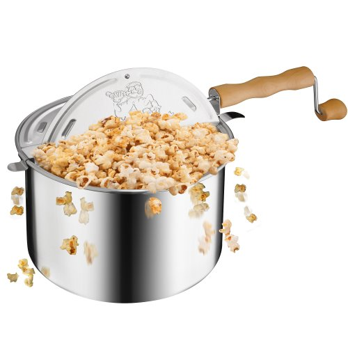 Great Northern Popcorn Company Great Northern Popcorn Original Spinner Stovetop 6 1/2 Quart Popcorn Popper