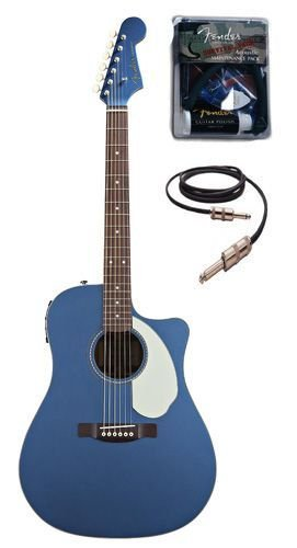 buy cheap fender sonoran sce dreadnought cutaway acoustic electric guitar bundle with fender. Black Bedroom Furniture Sets. Home Design Ideas