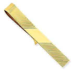 14 k 黄色 ゴールド ネクタイ バー