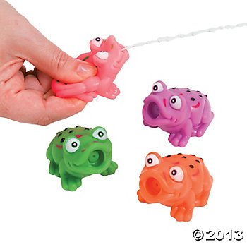 One Dozen Vinyl Frog Squirts/Bath Tub Toys/Water Toys/Pool and Beach Toys/Water Squirts