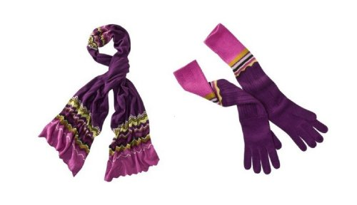 Missoni for Target Knitted ZigZag Long Gloves & Long Scarf Set - Passione (Missoni For Target Scarf compare prices)