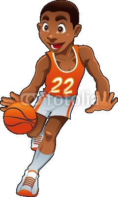 "Wallmonkeys Peel and Stick Wall Decals - Basket Boy - 24""H x 14""W Removable Graphic"