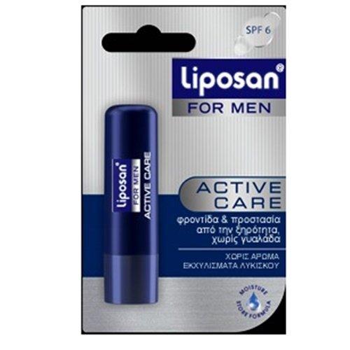 Labello Liposan For Men Activ Care Lip Care Balm 4.8gr Lipcare