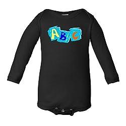 ABC Alphabet Paint Color Infant Long Sleeve Bodysuit