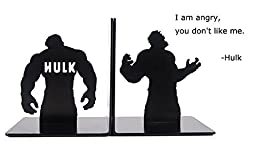 NEW Arrival ! Creative Bookends Steel Support Convenience Support Super Hero Series (Hulk)