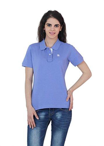 The-Cotton-Company-Womens-Cotton-Polo-T-Shirt-Blue