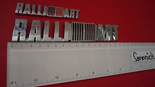 Large + Small MITSUBISHI RALLI///ART Ralliart ABS BADGE EMBLEM CAR AUTO VOITURE ABZEICHEN EMBLEME STICKER CHROME DECAL DECO LOGO uk