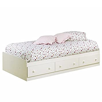 South Shore Summer Breeze Collection Twin Mates Bed with Wooden Knobs