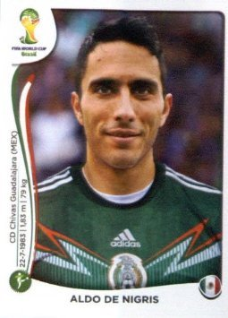 2014 Panini World Cup Soccer Sticker # 84 Aldo De Nigris Team Mexico