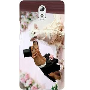 Casotec Dog Wedding Design Hard Back Case Cover for Lenovo Vibe P1M