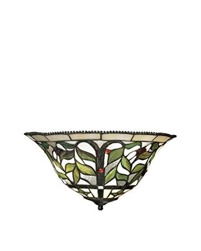 Artistic Lighting Latham 2-Light Sconce, Green/Bronze