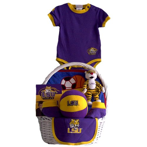 LSU Tigers Baby Gift Basket ***TOUCHDOWN***