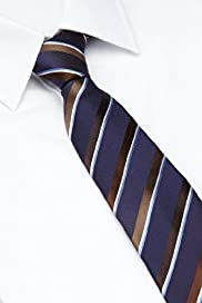 Autograph Pure Silk Textured Striped Tie