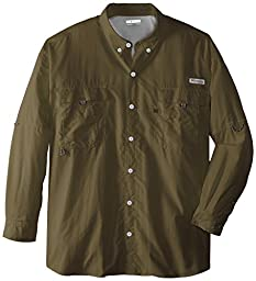Columbia Men\'s Bahama II Long Sleeve Shirt, 3X, Sage