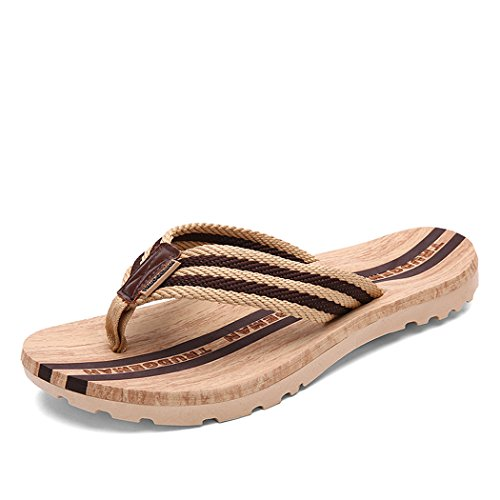 Autumn Melody Fashion Sandals Lovers Shoes Leisure Flip Flops Size 10 US Brown