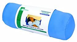 Essential Medical Supply Round Cervical Pillow, Blue Satin