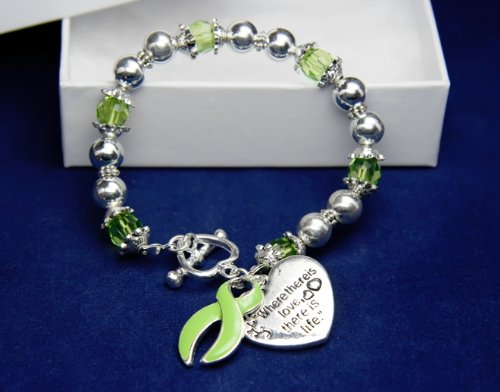 Lime Green Ribbon Bracelet-Where There Is Love (18 Bracelets)