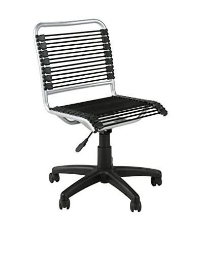 Euro Style Bungie Low Back Office Chair, Black