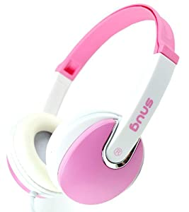Snug Plug n Play DJ Style Pink Kids Headphones for Children - 3.5mm Standard Jack Plug