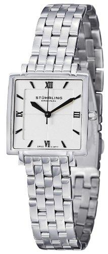 Stuhrling Original Women's 424.12112 Classic Ascot Saratoga Elite Swiss Quartz Ultra Slim Stainless Steel Bracelet Watch