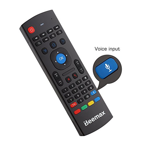 Beemax 2.4G Mini Wireless Voice Keyboard Mouse Infrared Remote Learning & 3-Gyro + 3-Gsensor Air Remote Control for Android, Windows, Mac OS , Lilux etc (Remote Control For Android compare prices)