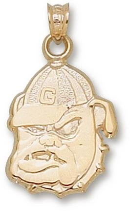 Georgia Bulldogs Bulldog Face Pendant - 14KT Gold Jewelry by Logo Art