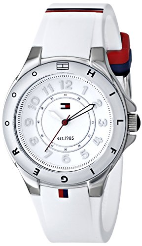 Tommy-Hilfiger-Womens-1781271-Stainless-Steel-Watch-with-White-Silicone-Band
