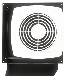 Broan Model 509S 8-Inch Through-Wall Utility Fan with Integral Rotary Switch, 180 CFM, 6.5 Sones by Broan