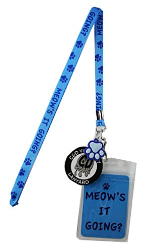 Lanyard with Charm Meows it Going' Skinny Lanyard with Rubber Charm