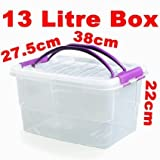 5 x 13 litre Plastic Food Handy Container Box