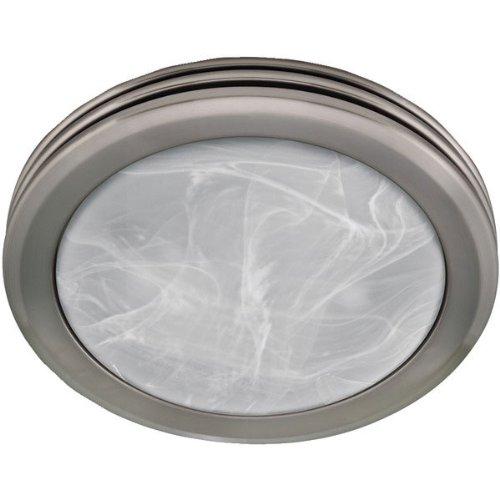 Hunter 90053 decorative brushed nickel bathroom fan - Brushed nickel bathroom exhaust fan ...