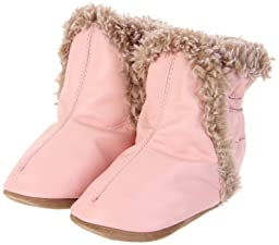 Robeez Classic Bootie (Infant/Toddler/Little Kid),Pastel Pink,18-24 Months (6.5-8 M US Toddler)