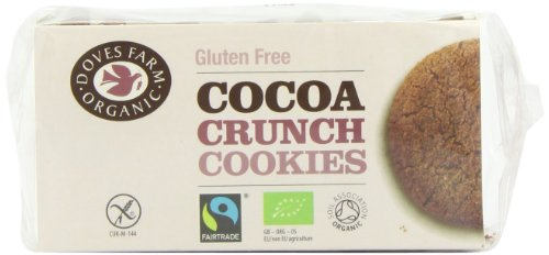Doves Farm Organic gluten Free Cocoa Crunch Cookies 150 g (Pack of 6)