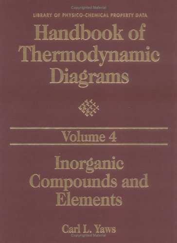 Handbook of Thermodynamic Diagrams, Volume 4: Inorganic Compounds and Elements (Vol 4) (Library of Physico-Chemical Property Data)