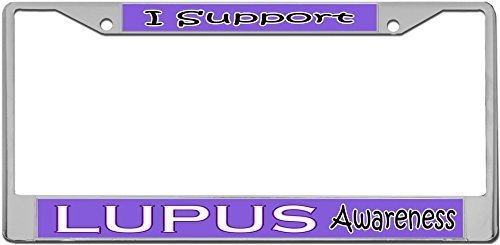 Lupus Awareness - License Plate Frame METAL Tag Holder by Redeye Laserworks (Lupus License Plate Frame compare prices)