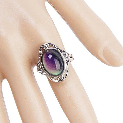 OULII Adjustable Changing Mood Ring Finger Ring