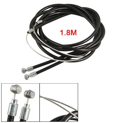 Buy Low Price Como Cylindrical Head Bicycle Front Rear Brake Cable Black (sourcingmap)