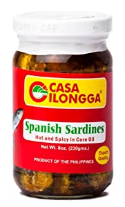 Casa Ilongga Spanish Sardines Hot And Spicy In Corn Oil 230g from Casa Ilongga
