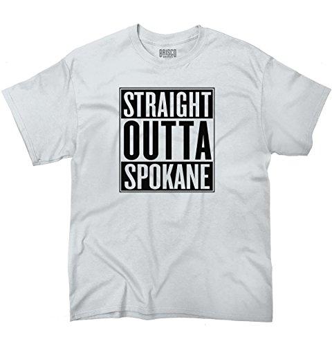 Straight Outta Spokane, WA City Movie T Shirts Gift Ideas Cool T-Shirt Tee (Yakima Wa Stores)