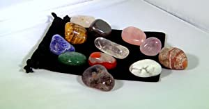 7 Assorted Tumbled Polished Stones in a Velvet Bag Chakra