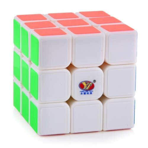 3x3x3 YJ Sulong White Speed Cube Puzzle Smooth New Moyu 3x3 - 1