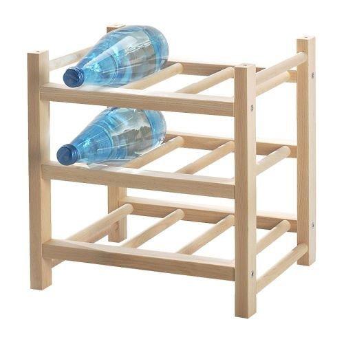 IKEA-Flaschenregal-Hutten-Regal-fr-9-Flaschen-aus-Massivholz-erweiterbar