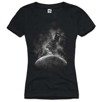 style3 Espace Doctor T-Shirt Femme dr. who dalek tardis temps télé voyage blu-ray, Taille:XS