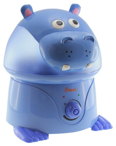 "Crane ""Violet the Hippo"" Ultrasonic Cool Mist Humidifier - 1"