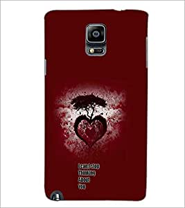 PrintDhaba Heart with Quote D-1158 Back Case Cover for SAMSUNG GALAXY NOTE 3 (Multi-Coloured)